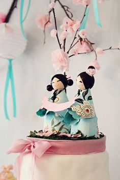 Topo do bolo diy Japanese Theme Parties, Japanese Party, Japanese Wedding, Japanese Cake, Girls Tea Party, Tea Party Birthday, 16th Birthday, Carpe Coi, Bolo Diy