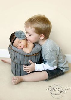 big brother - baby sister photo ideas