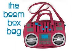 Sew The Boom Box Bag. Free PDF pattern and tutorial by A Seriously Cute Craft Blog ...