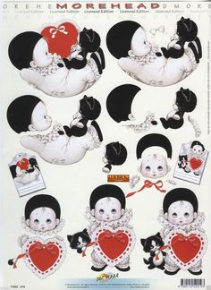 More Head Cut out sheet nr. Decoupage Printables, 3d Sheets, 3d Pictures, 3d Craft, Friendship Cards, Minnie Mouse, Projects To Try, Card Making, Paper Crafts