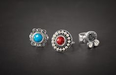 HAPPY you Introducing new hues and artistic motifs for a creative, polished look. Lotti Dotties bring a world of expression to your jewelry box. Rings are available in whole sizes 5 Dotties: Lottie Dottie, Stuck On You, Polished Look, Daughters, Jewelry Box, Gemstone Rings, Silver Rings, Turquoise, Pearls