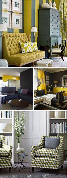 decoração amarelo