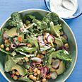 Winter Salad with Lemon-Yogurt Dressing