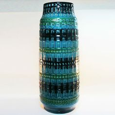 West German Pottery Boden Vase • Extra Large • Scheurich Inka • 52 cm / 20,47""
