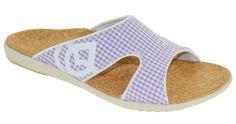 Spenco Women's Kholo Sandals Gingham Lavender Style 39-469 #Spenco #Slides