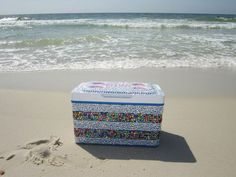 Painted coolers and sandy beaches.