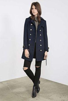 Forever 21 | Belted Trench Overcoat #forever21 #trench #coat