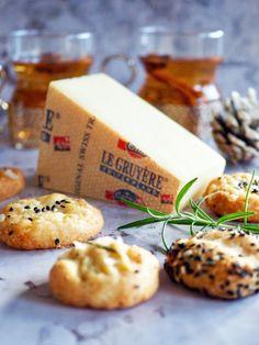 3 x helpot Le Gruyère -juustokeksit - Himahella Dairy, Cheese, Cookies, Baking, Desserts, Recipes, Food, Salt, Bakken