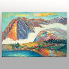 Large Art Abstract Painting Abstract Canvas Art by GeorgeMillerArt