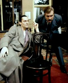 The Blue Carbuncle (I've always loved how Holmes manages to do his hair in between scenes, but not get dressed.)