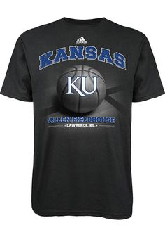 Kansas Jayhawks Adidas T-Shirt - Mens Black Allen Fieldhouse T-Shirt http://www.rallyhouse.com/adidas-ku-jayhawks-mens-black-fieldhouse-short-sleeve-tee-14853954?utm_source=pinterest&utm_medium=social&utm_campaign=Pinterest-KUJayhawks $22.00