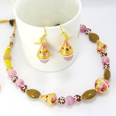 Meenakari Traditional Mala Peach Yellow Pink