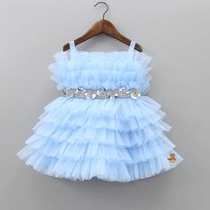 Baby Girl Dresses Fancy, Baby Tulle Dress, Baby Girl Birthday Dress, Baby Girl Frocks, Girls Dresses, Baby Party Dresses, Net Dresses, Girls Frock Design, Baby Dress Design