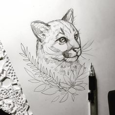 Late night drawing ✍ #mountainlion #sketch #pencil #drawing #tattoodesign #tattoodrawing #art #essitattoo #tattooart #natureart #tattoodesign #tattoodrawing #tatuoinnit #piirustus #luonnos #illustration #art #sketch_daily #art_we_inspire #instaart #instaartist