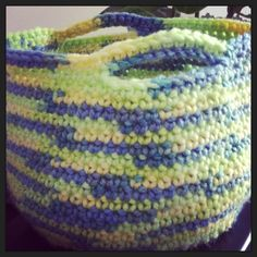 Crochet Basket (PIP). Change up the colors