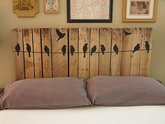 Pallet Headboard by klacowsky, via Flickr