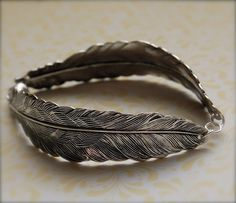 sterling silver feather bracelet