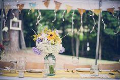 Simple Rustic Wedding Table Decor. by Zoya Lynch