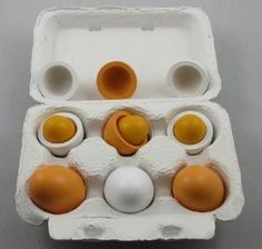 Amazon.com: 6pcs Wooden Easter Eggs Yolk Pretend Children Play Kitchen Game Food Kids Toy: Toys & Games