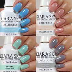 Kiara Sky Gel Polish Swatches by Chickettes.com