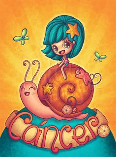 Cancer by Chocolatita.deviantart.com on @deviantART, I love this because my cancer friend's nickname is snail, too bad he's a guy