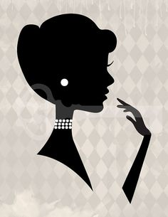 Classy Woman Cameo Silhouette Graphic Digital by TanglesGraphics, $1.00