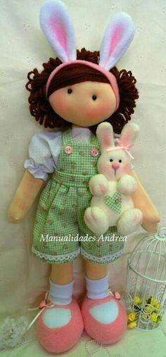 Doll by Paola Huerta. - inspiration for a waldorf doll Doll Crafts, Diy Doll, Doll Toys, Baby Dolls, Homemade Dolls, Doll Tutorial, Sewing Dolls, Waldorf Dolls, Soft Dolls