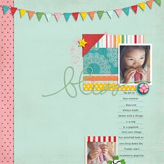 Layout by Trina. Supplies: County Fair by Design by Dani; Baby Steps 2 by Tiny Toes Designs