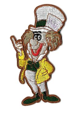 Mad Hatter - Alice In Wonderland - Disney - Embroidered Iron On Applique Patch  #Unbranded