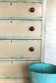 Antibes Green & Versailles Chalk Paint® decorative paint by Annie Sloan were…