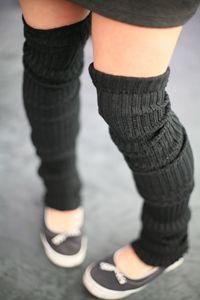 Super-Long Ribbed Leg Warmers. Too cute!