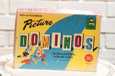 Vintage PICTURE DOMINOS Game Educational by CabinOn6th on Etsy