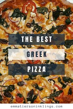 Who said pizza can't be healthy AND delicious?! They certainly never tried this pizza! Loaded with greek toppings and simple to make, pizza night just got 100% better! #pizzanight #homemadepizza #pizzatime