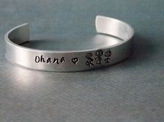 Ohana Cuff Family Cuff Hand Stamped Cuff by RoyalOwlDesign on Etsy