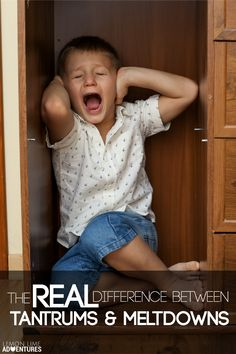 The Real Difference Between Tantrums and Meltdowns | This is must-read parenting advice and something I wish I had known a long time ago!