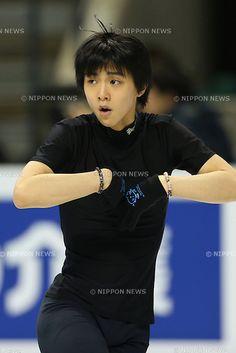 Yuzuru Hanyu (JPN), .March 12, 2013 - Figure Skating : .ISU World Figure Skating Championships 2013, Men's Official Training .at Budweiser Gardens, London, Canada. .(Photo by Daiju Kitamura/AFLO SPORT)