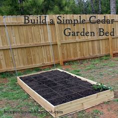Tutorial for building a super simple raised garden bed out of cedar