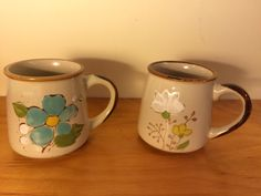 2 Made in Korea Coffee Mugs Vintage -Nolreans & JMP Casualstone 702 by PineappleBuster on Etsy