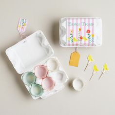 One of my favorite discoveries at WorldMarket.com: Egg Box Mini Cupcake Treat Kit