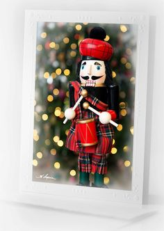 Nutcracker Christmas CARD Blank Notecard by HPaquinPhotography
