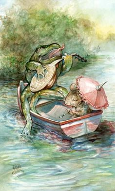 Omar Rayyan - Froggy Goes a Courting. Frosch Illustration, Children's Book Illustration, Omar Rayyan, Frog Pictures, Funny Frogs, Frog Art, Parasols, Frog And Toad, Illustrators
