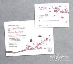 Printable Wedding Invitation DIY asian oriental by OnlybyInvite, $20.00