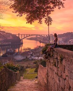 Planning your trip to Porto? Then you will like to go to these places for epic views - especially if you visit them for sunset! Planning your trip to Porto? Then you will like to go to these places for epic views - especially if you visit them for sunset! Visit Portugal, Spain And Portugal, Portugal Travel, Sintra Portugal, Porto City, Best Instagram Photos, Best Sunset, Algarve, Destinations