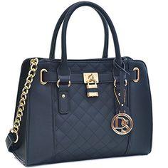 99f96d4788 Womens Handbag Fashion Padlock Shoulder Bag Structured Satchel Bag Designer  Purse Hobo Handbags