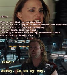 For you, Kels:  Texts From the Avengers