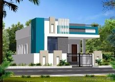 House Exterior Green Floor Plans Ideas For 2019 House Outside Design, House Front Design, Small House Design, Modern House Design, Bungalow Haus Design, Duplex House Design, Village House Design, Kerala House Design, Independent House