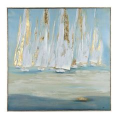 Abstract Art...Wonderful art...Michela...Glimmering Sails Framed Canvas Art Print | Kirklands