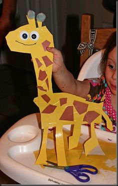 Cutting and a giraffe..