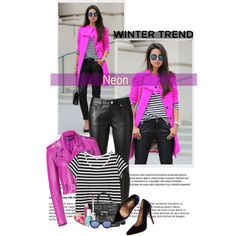 How To Wear Winter Trend Neon Outfit Idea 2017 - Fashion Trends Ready To Wear For Plus Size, Curvy Women Over 20, 30, 40, 50
