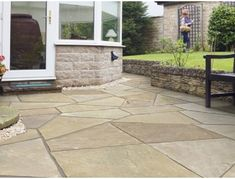 Marshalls Riven Harena Kaleidoscope is the next generation of crazy paving. Tessellated sandstone slabs to make you a unique patio! Block Paving, Paving Slabs, Paving Stones, York Stone, Garden Paving, Marshalls, Natural Stones, Concrete, Outdoor Decor